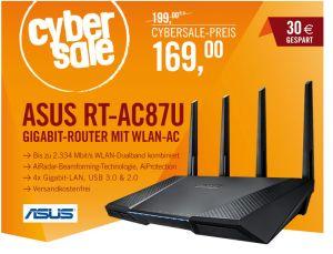 Nur noch wenige verfügbar: ASUS AC2400 RT-AC87U Gigabit Router für 169,- Euro!