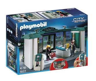 playmobil city action bank mit geldautomat 5177 f r nur. Black Bedroom Furniture Sets. Home Design Ideas