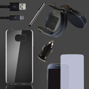 Smartphone Zubehör-Set mit Silikonhülle, Schutzfolie, Kfz-Halterung, USB-Kabel + Ladegerät, Stylus Pen und Handyhalter für 2,99 Euro!