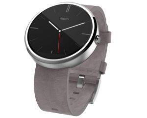 MOTOROLA Moto 360 Smart Watch hell mit Lederarmband für 129,- Euro!