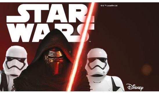 Nur heute und morgen: 15% Rabatt auf Star Wars + 12,- Euro Gutschein!