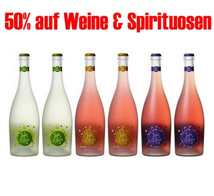 50% Rabatt auf ausgewählte Weine und Spirituosen bei Amazon!