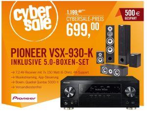 Fast 100,- € sparen: Pioneer VSX-930-K 7.2 AV Receiver + Quadral Quintas Lautsprecherset für 699,- Euro!