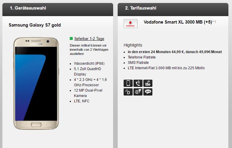 Vodafone Smart XL Tarif für nur 44,99 Euro im Monat + iPhone 6S für einmalig 4,95 Euro!