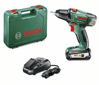 Bosch Home and Garden Akku-Bohrschrauber PSR 18 LI-2 2,5Ah mit Ladegerät und 2. Akku, Doppelschrauberbit und Koffer nur 118,79 Euro inkl. Versand