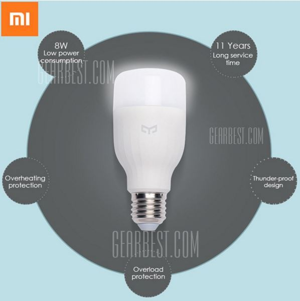 Xiaomi Yeelight E27 Smart LED-Leuchtmittel für etwa 13,30 Euro inkl. Versand bei Gearbest