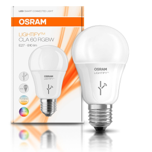 osram lightify e27 rgb leuchtmittel mit 10 watt led f r. Black Bedroom Furniture Sets. Home Design Ideas