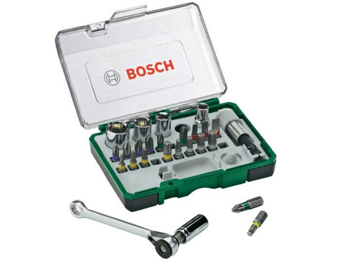 Bosch 27-teiliges Schrauberbit- und Ratschen-Set für nur 12,74€