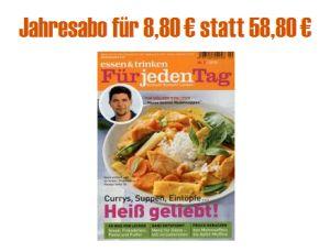 Top! Jahresabo der Zeitschrift Essen & Trinken für effektiv nur 8,80 Euro dank 50,- Euro Amazon Gutschein!