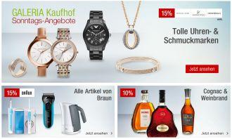 Galeria Sonntagsangebote am 14. Februar – kombinierbar mit dem 10% Newslettergutschein!