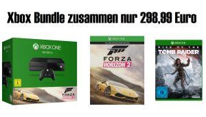 MICROSOFT Xbox One 500GB Forza Horizon 2 Bundle + Rise of the Tomb Raider für nur 298,99 Euro!