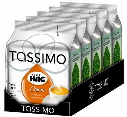 Tassimo HAG im 5er Pack (5x 16 Portionen) nur 12,42 Euro