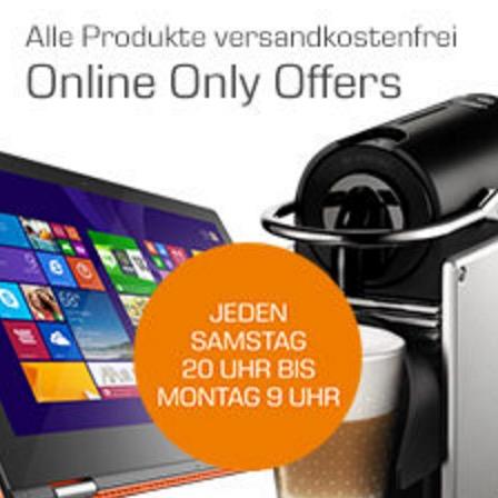 Online-Only Offers bei Saturn mit vielen Angeboten aus den Bereichen Haushalt, Fotografie, Telefon, TV und Film
