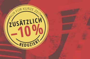 Outlet Sale Aktion mit mindestens 50% Rabatt + 10% Extrarabatt durch Gutschein
