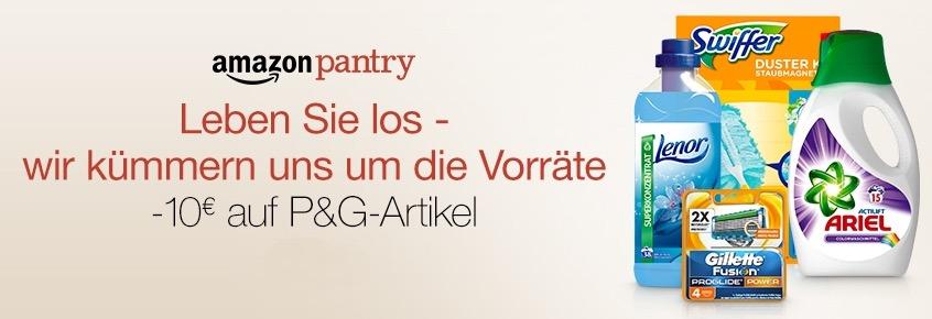 Pantry Box Aktion: 10,- Euro Sofort-Rabatt auf P&G Artikel bei mindestens 25,- Euro Boxwert