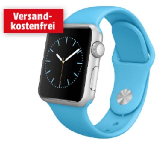 Tipp! Apple Watch Sport 38mm im Aluminiumgehäuse mit Sportband nur 259,- Euro – Edelstahl nur 399,- Euro