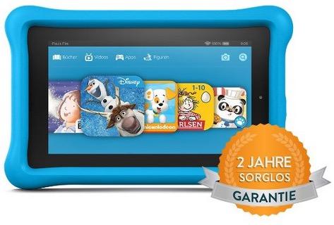 Primeday! Amazon Fire Kids Edition mit 7″, WLAN, 16GB und Schutzhülle in Blau oder Pink mit 2 Jahre Egal-Was-Garantie nur 89,99 Euro inkl. Versand