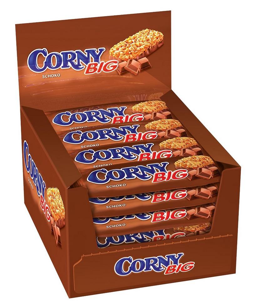 Verschiedene Sorten Corny Big Riegel im 24er Display (1x 1,2kg) für jeweils nur 9,59 Euro