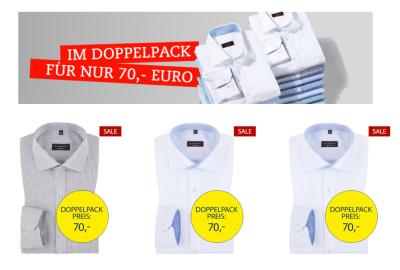 Genial! 3 Stück Eterna Herren-Hemden für zusammen nur 95,- Euro inkl. Versand.