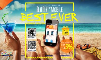 Flash Deals Aktion bei Gearbest und bis zu 5% Rabatt beim Kauf über Mobilgeräte