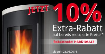 Top! 10% Gutscheincode auf bereits reduzierte Kamin und Ofen Angebote im Hark Onlineshop