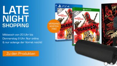 Saturn Late Night Deals – z.B. Deadpool für PS4 und Xbox One nur 19,99 Euro