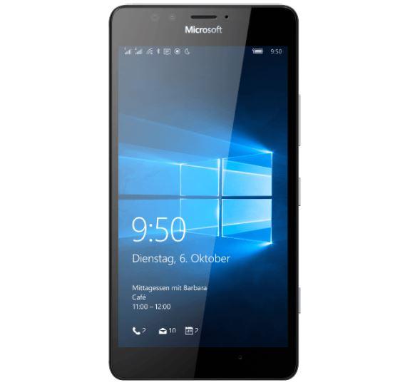 Microsoft Lumia 950 Dual SIM Smartphone (5,2 Zoll, 1,8 GHz, 32 GB, 20 Megapixel) in Schwarz für nur 279,- Euro inkl. Versand