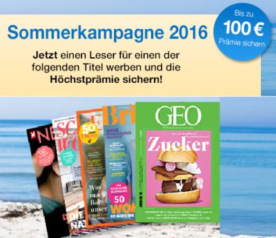 Nur noch heute! Zeitschriften-Sommerkampagne beim DPV mit vielen Abos – teilweise fast gratis!