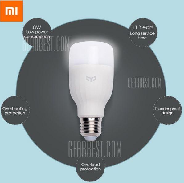 Xiaomi Yeelight Smartlight mit E27-Fassung für 11,05 Euro inkl. Versand