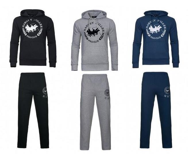 Harvey Miller Polo Club Anzug Herren Trainingsanzüge in verschiedenen Farben für nur je 9,99 Euro inkl. Versand