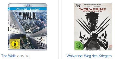 Drei 3D-Blu-rays (u.a. Transformers 3, The Amazing Spiderman und viele mehr) für nur 30,- Euro inkl. Versand