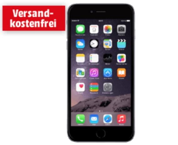 Wieder da: Apple iPhone 6 Plus 64 GB Spacegrau für nur 549,- Euro bei Media Markt!