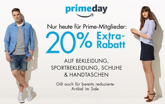 Auf Bekleidung, Sportbekleidung, Schuhe & Handtaschen mit 20% Extra-Rabatt für Prime-Mitglieder