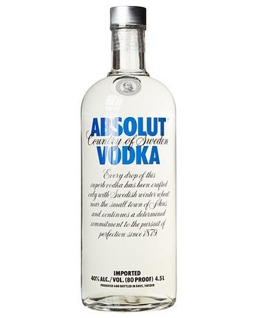 Absolut Wodka (1x 4,5 Liter) nur 79,99 Euro inkl. Versand – statt normal 96,49 Euro