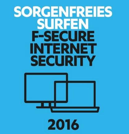 Primeday-Gratisdeal! F-Secure Internet Security 2016 für 1 Jahr / 1 PC [Online Code] für Windows vollkommen gratis