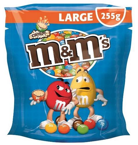 M&M's Crispy 5 Beutel (5x 255g) für nur 9,95 Euro