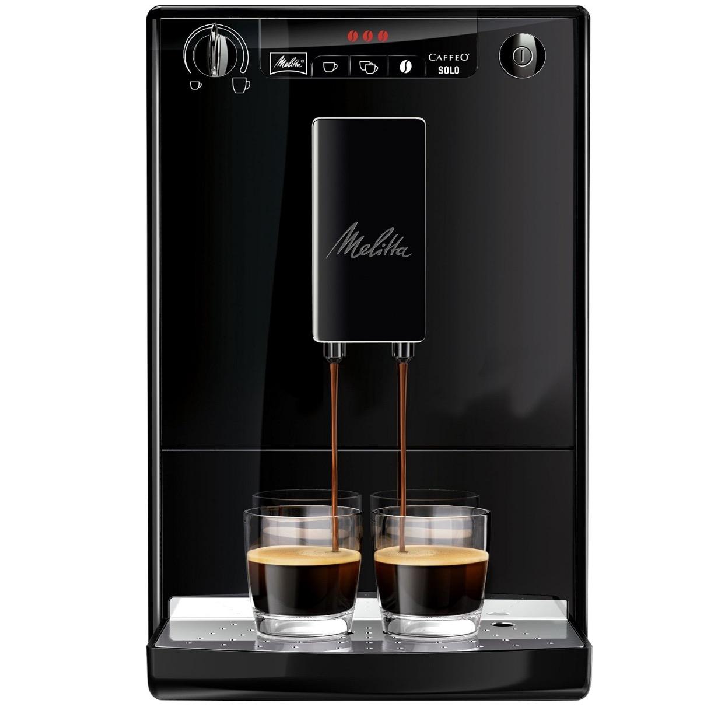 Melitta E 950-222 Kaffeevollautomat Caffeo Solo mit Vorbrühfunktion (15 bar) Designedition in Schwarz für nur 239,- Euro inkl. Primeversand