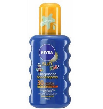 Nivea Sun Kids Pflegendes Sonnenspray mit LSF 30 (1x 200ml) nur 5,60 Euro inkl. Versand – dazu gratis: After-Sun-Lotion von Nivea