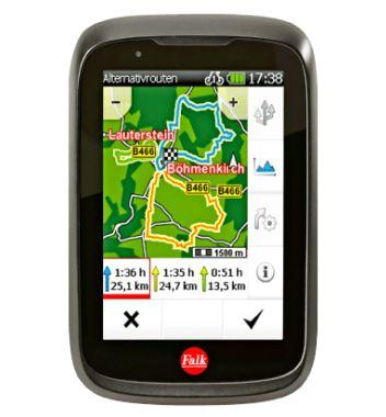 Media Markt Tiefpreisspätschicht: FALK TIGER GEO Fahrrad/Outdoor Navigationsgerät für nur 99,- Euro