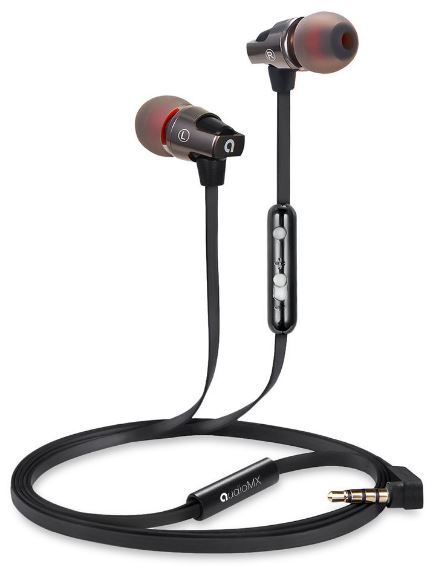 AudioMX In-Ear Stereo Kopfhörer mit Aufbewahrungsbox für nur 9,99 Euro inkl. Primeversand