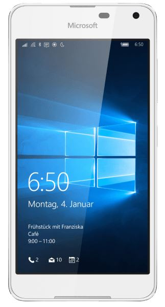 MICROSOFT Lumia 650 (5″ Display, Quad-Core, 16 GB, 8MP Kamera) in Weiß für nur 115,- Euro inkl. Versand