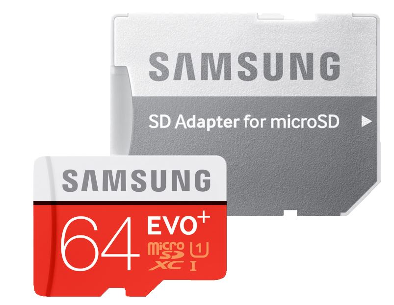 SAMSUNG EVO+ Micro-SDXC 64 GB + SD Adapter für nur 12,- Euro inkl. Versand