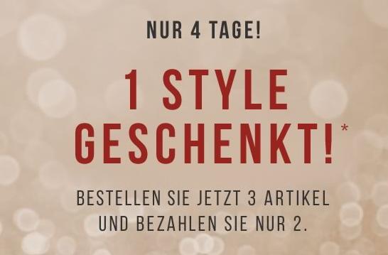 3 für 2 Aktion: 3 Styles kaufen und 2 zahlen bei Tom Tailor – der günstigste Artikel is umsonst