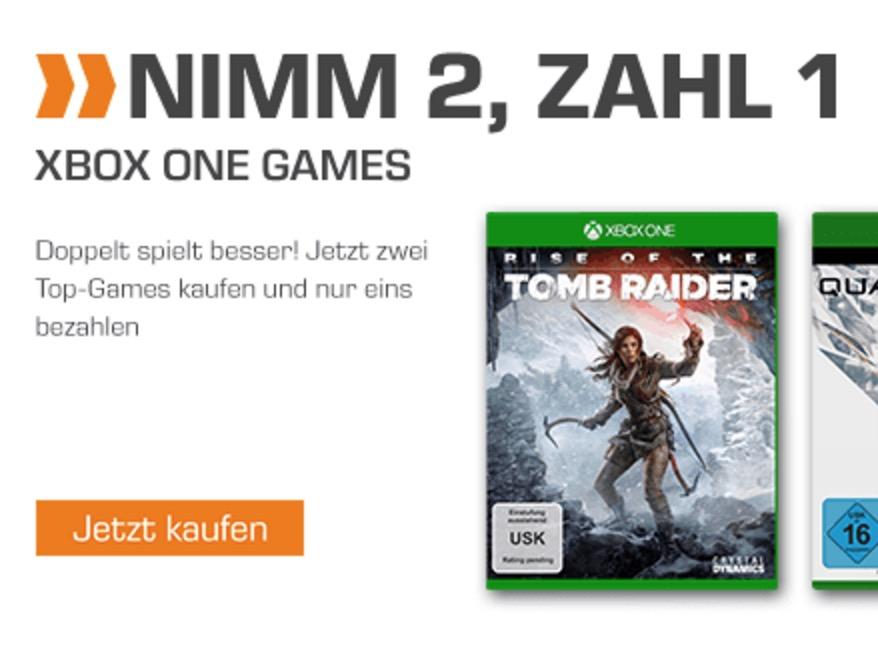 2 für 1 Aktion bei Saturn: 2 Xbox One Top-Games kaufen und das Günstigere gratis erhalten