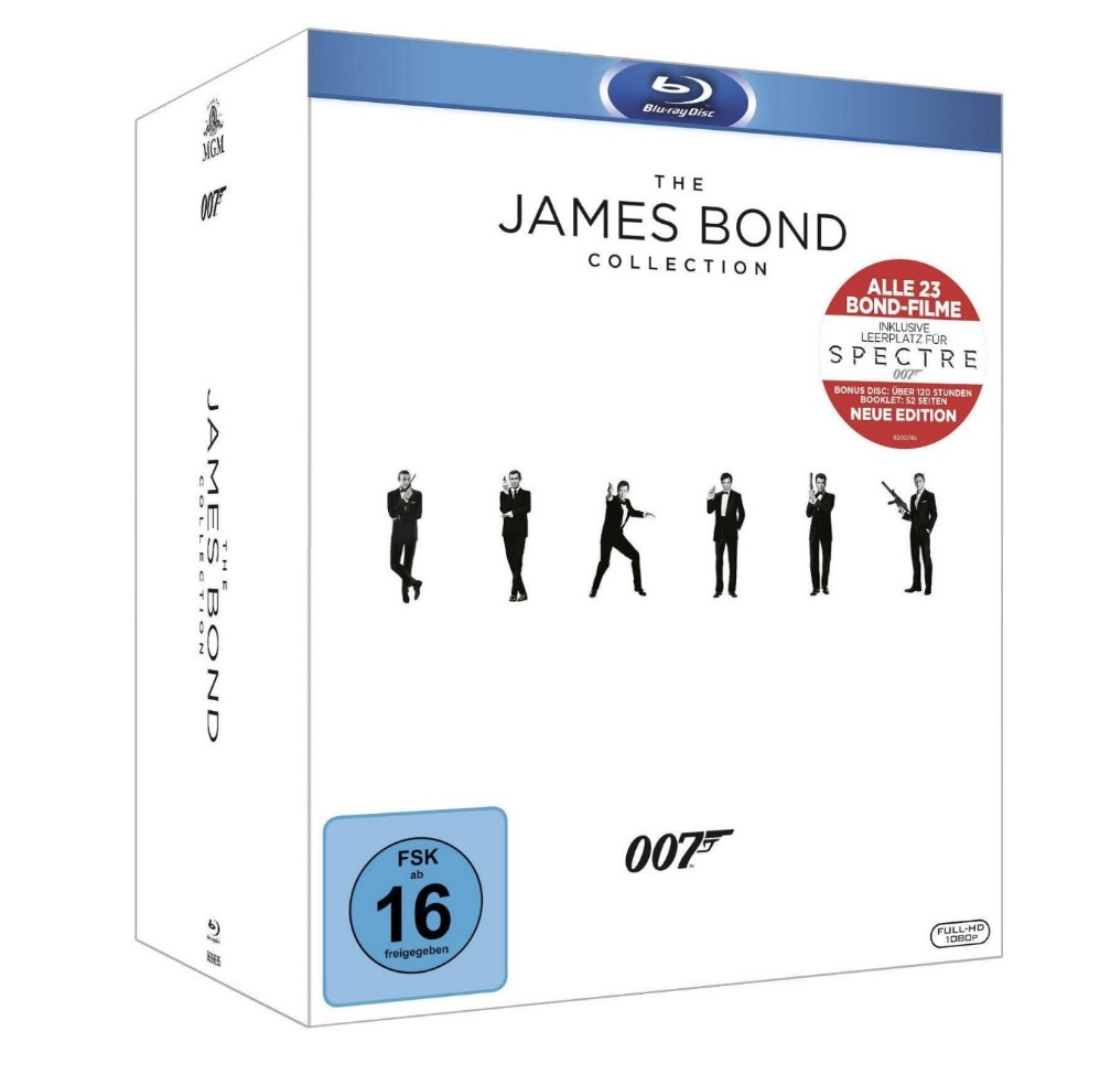 Knaller! The James Bond Collection mit allen 23 Filmen (inkl. Leerplatz für Spectre) für nur 48,92 Euro inkl. Versand