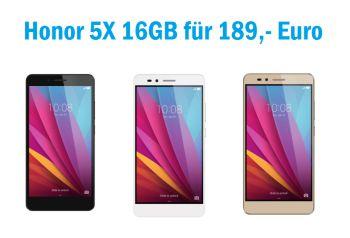 HONOR 5X Dual SIM Smartphone in verschiedenen Farben für je 189,- Euro inkl. Versand