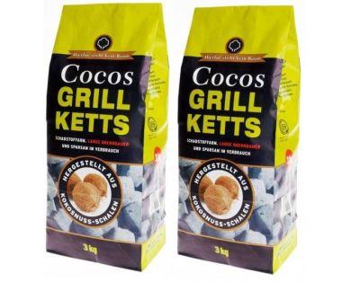 Bis zu 30% heißer als Holzkohle – 6 KG Cocos Grillbriketts für 10,95 Euro