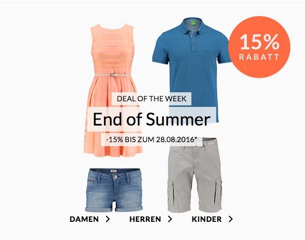 *TOP* Nur bis 28. August: -15%  Rabatt auf Kleider, Blusen, Hemden, Shorts und Vieles mehr