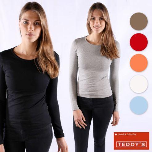 Teddy's Damen Langarm Pullover Katja