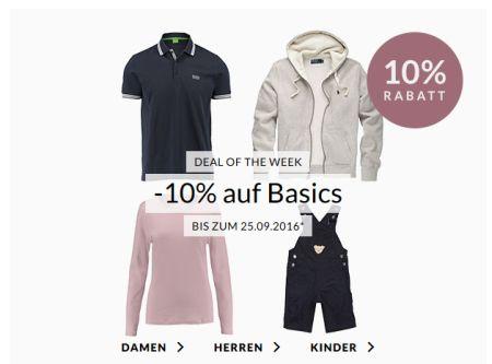 Engelhorn Weekly Deal – 10% Extra-Rabatt auf Basics